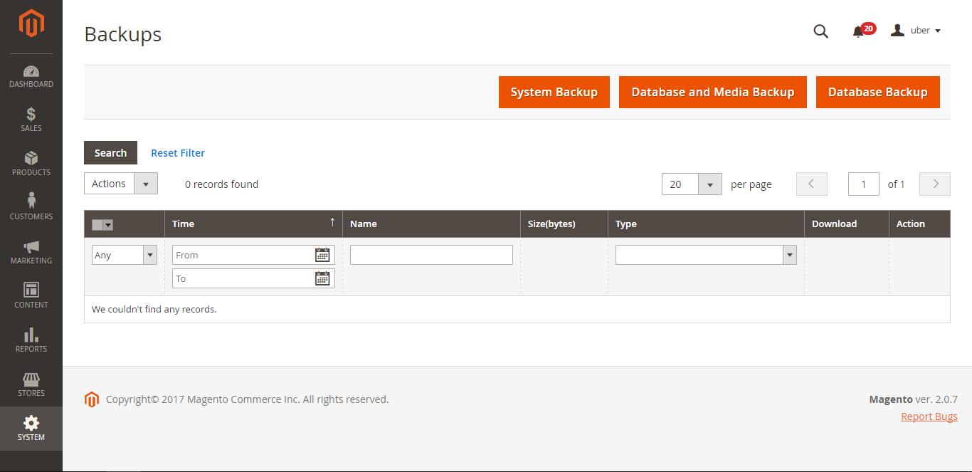 Backup Magento Site - Step 3